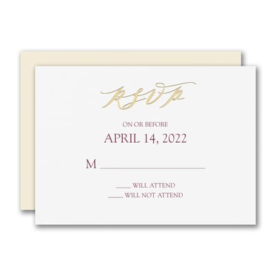Rich Elegance Response Card and Envelope