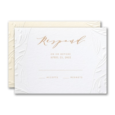 Extravagant Flourishes Response Card and Envelope