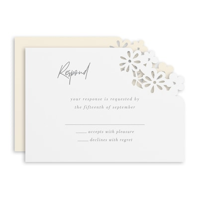 Luxurious Blooms Response Card and Envelope
