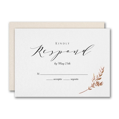 Garland Opulence Response Card and Envelope