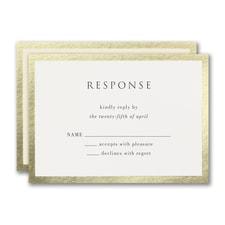 Decorative Treasure Response Card and Envelope