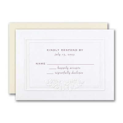 Flowered Frame Response Card and Envelope