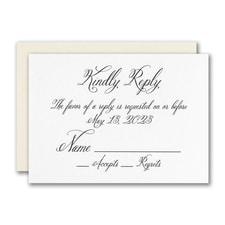 Simply Luxe Response Card and Envelope