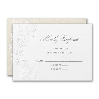 Alluring Details Response Card and Envelope