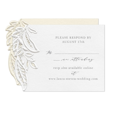 Enclosed in Lace Response Card and Envelope