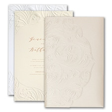 Luxury wedding invitations: Extravagant Flourishes Invitation