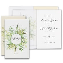 Translucent Botanicals Invitation