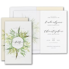 Luxury wedding invitations: Translucent Botanicals Invitation