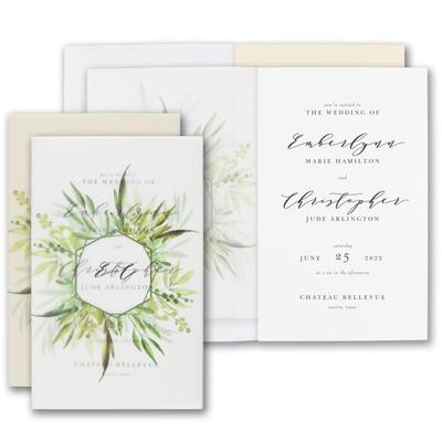 Translucent Botanicals Invitation