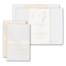 Deckled Simplicity Invitation -