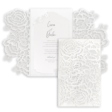 Luxury wedding invitations: Luxurious Blooms Invitation