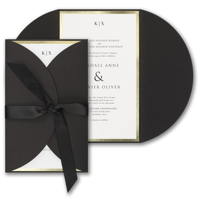 Decorative Treasure Invitation - Black Wrap