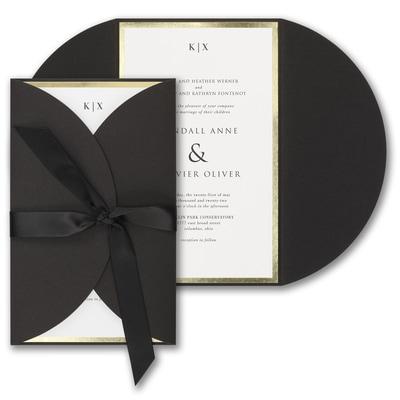 Decorative Treasure Invitation - Black Wrap