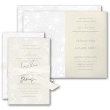 Luxury wedding invitations: Floral Fancy Invitation
