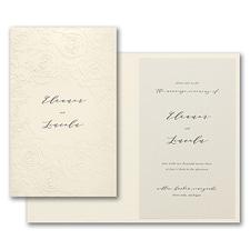 Luxury wedding invitations: Sculpted Rose Invitation