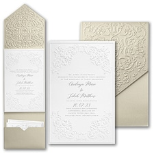 Luxury wedding invitations: Captivatingly Sculptured Invitation