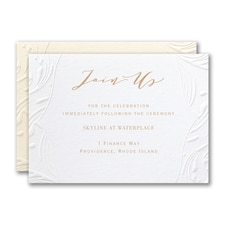 Extravagant Flourishes Reception Card