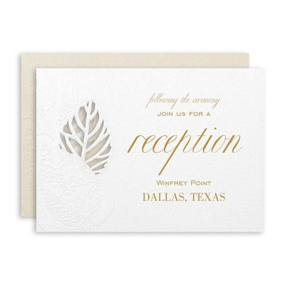 Delightful Leaves Reception Card