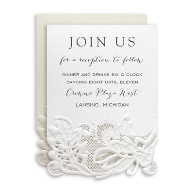 Delicate Lace Reception Card