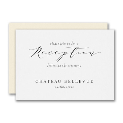 Translucent Botanicals Reception Card