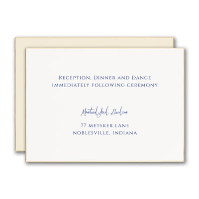 Golden Luxury Reception Card