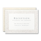 Dotted Border Reception Card