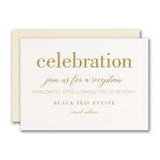 Bevel Beauty Reception Card