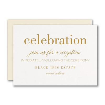 Bevel Beauty Reception Card