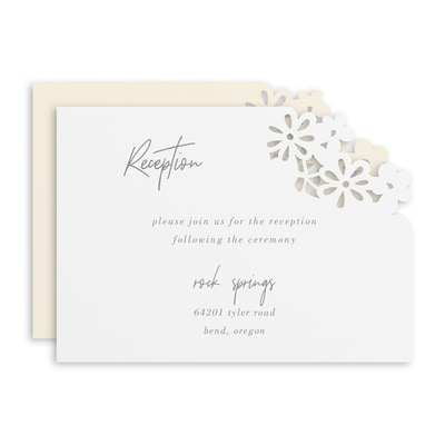Luxurious Blooms Reception Card
