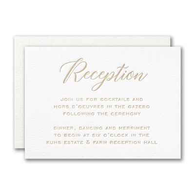 Deluxe Style Reception Card