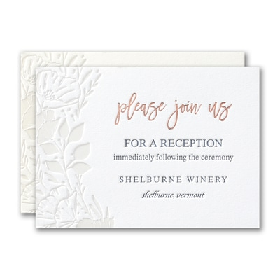 Pearl Blooms Reception Card