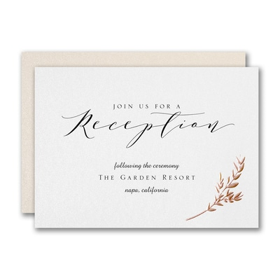 Garland Opulence Reception Card