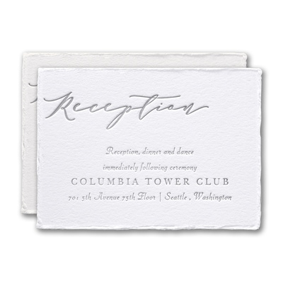 Feather Deckle Reception Card