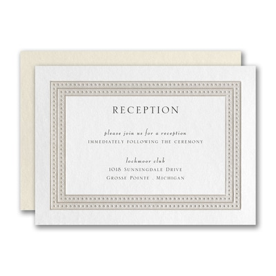 Delicate Dot Border Reception Card