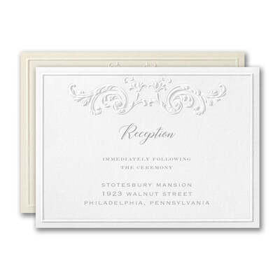 Captivatingly Sculptured Reception Card