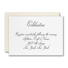 Simply Luxe Reception Card