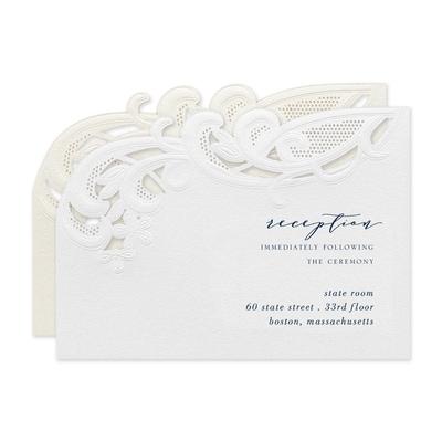 Courtly Flourish Reception Card