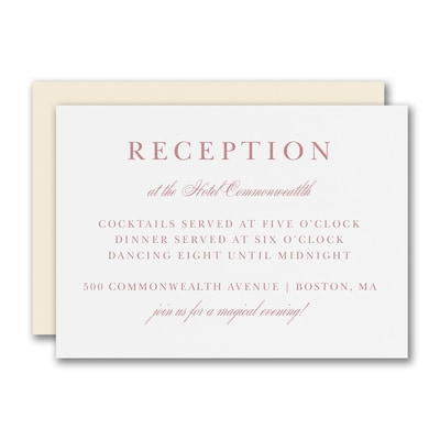 A Matter of Style Reception Card