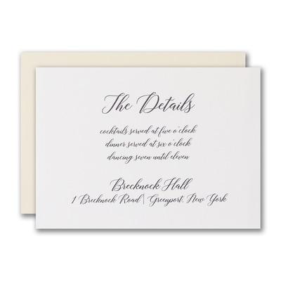 Refined Luxury Reception Card