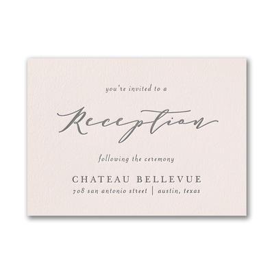 Posh Floral Reception Card