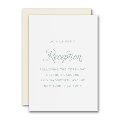 Sprinkled With Love Reception Card