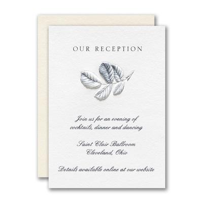 Delightful Floral Reception Card