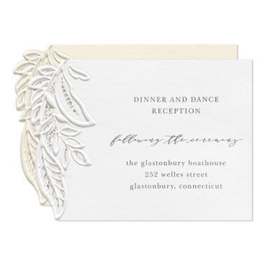 Enclosed in Lace Reception Card