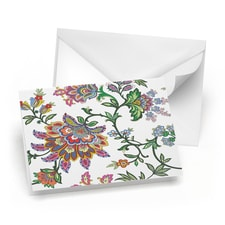 Colorful Paisley Note Card Set
