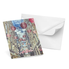 Chinese Lanterns Note Card Set