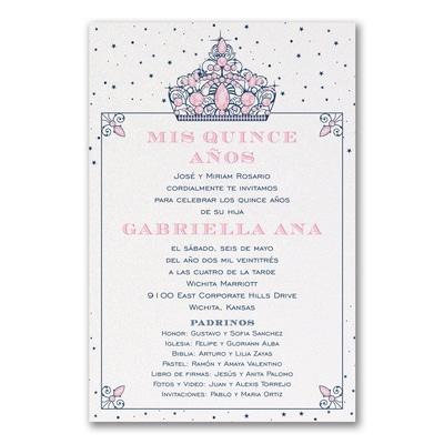 Shimmering Tiara Invitation