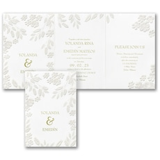 greenery wedding invitation: Floral Framework Invitation