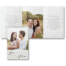 Swirled Wedding Invitation