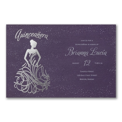 Fanciful Ball Gown Invitation