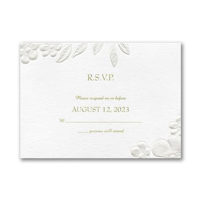 Floral Framework Response Card and Envelope